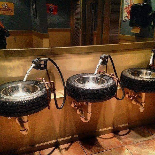 Tires Bathroom