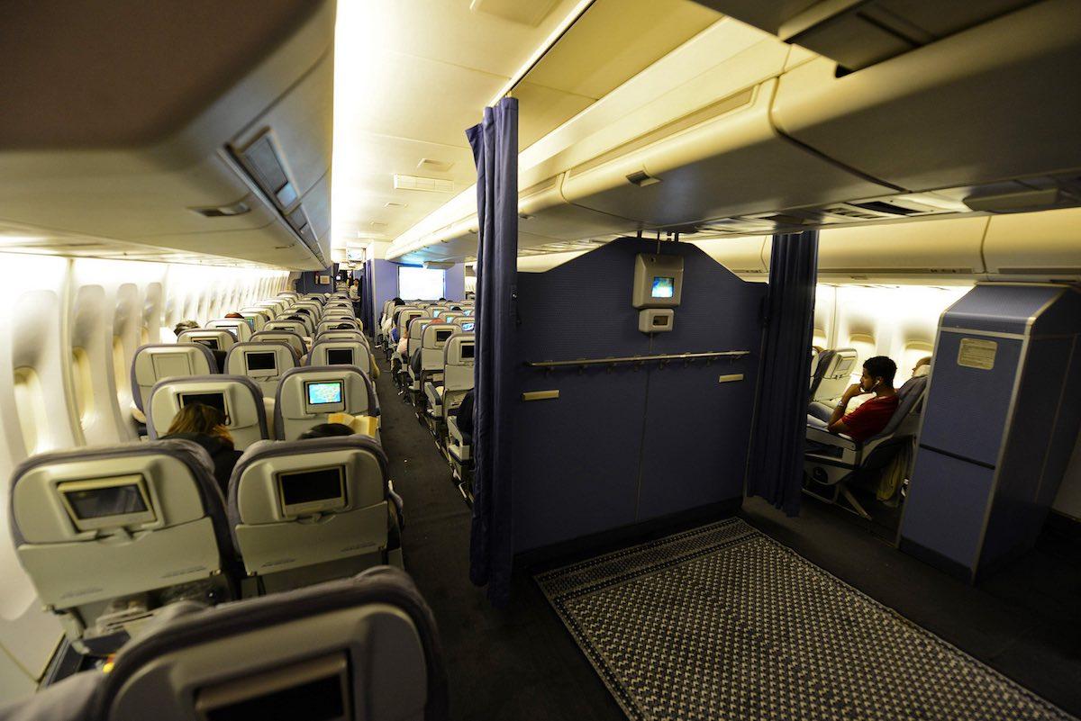 Saudi Airlines has a onboard Prayer area - ELMENS