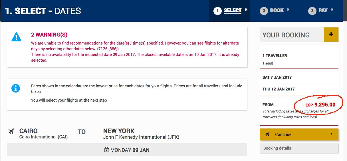 Cairo- New York - Cairo for 9200 EGP!