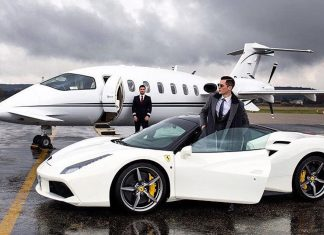 Winter on a private jet!