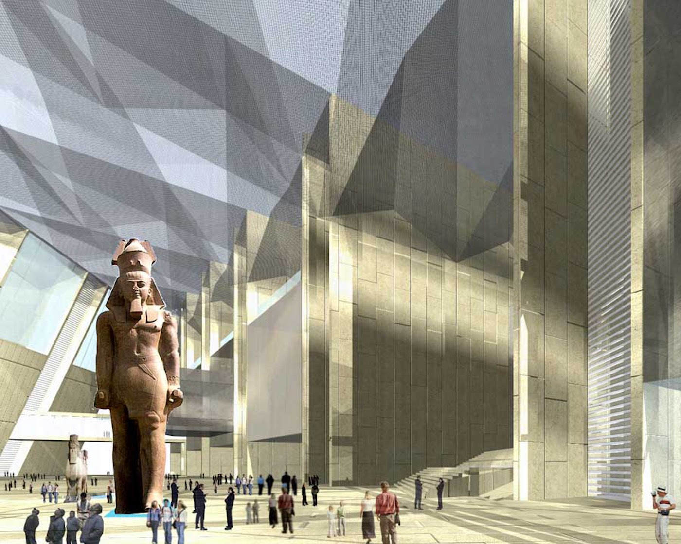The Grand Egyptian Museum Interior Look