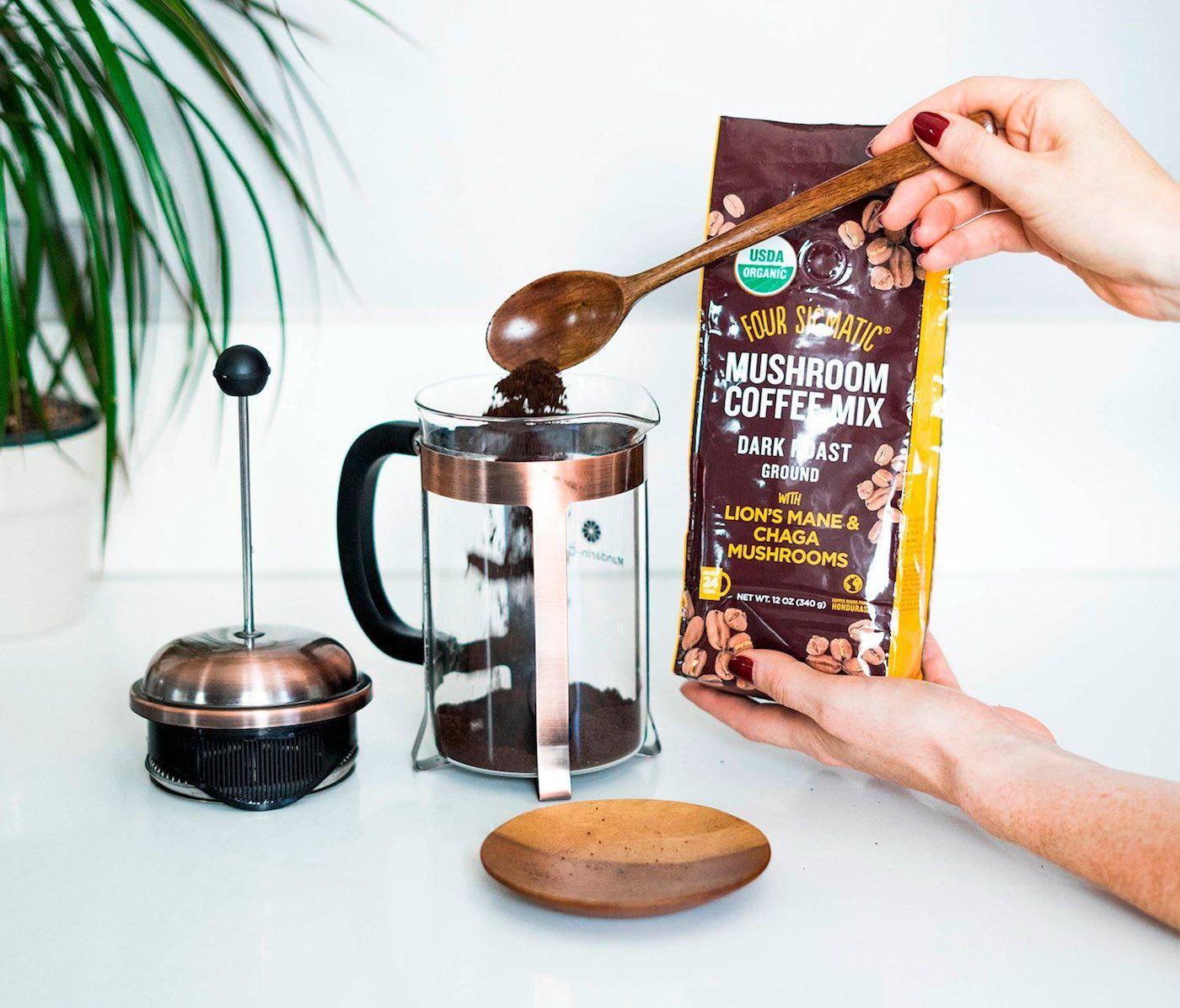 Mushrooms coffee