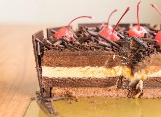 chocolate ice-cream cake