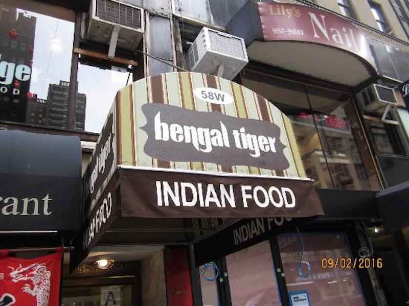 Bengal Tiger Indian Food