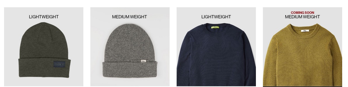 Tilley's New Merino Wool Products