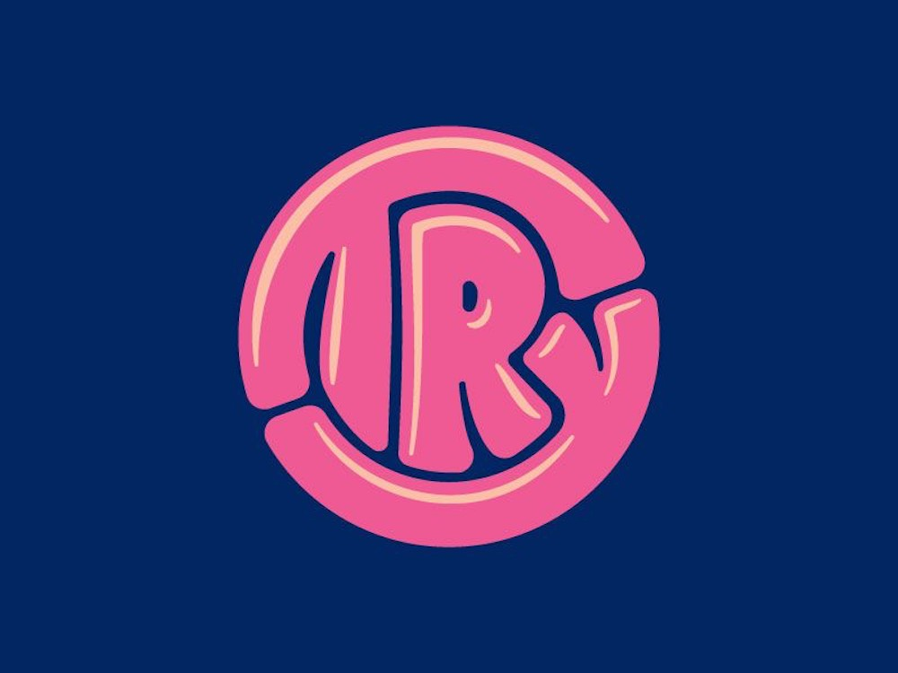 Bubble-lettering logos