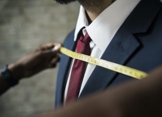 Classy man in the tailor