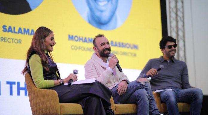 Film Director Amr Salama During his talk at RiseUp Summit