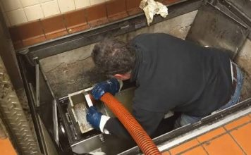 Grease trap cleaning