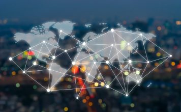 world map business network