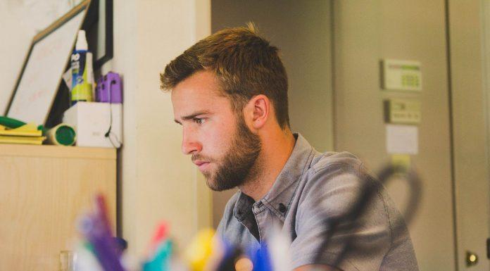 man beard work