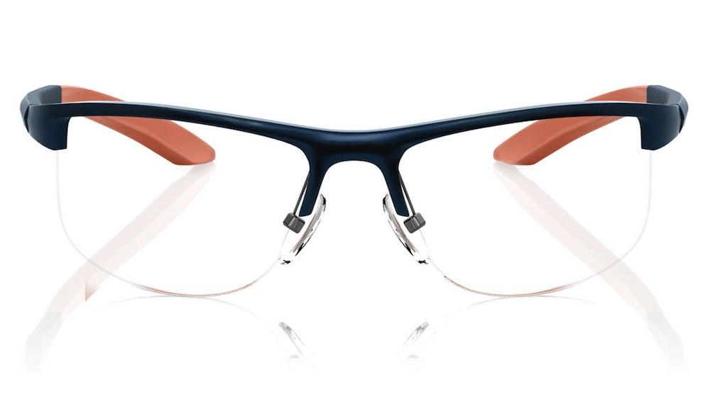 Blue Square Semi-Rimmed Eyeglasses