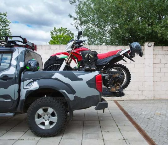How do you carry motorcycle in a car