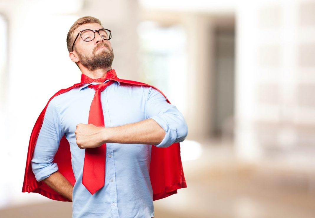 Corporate super hero